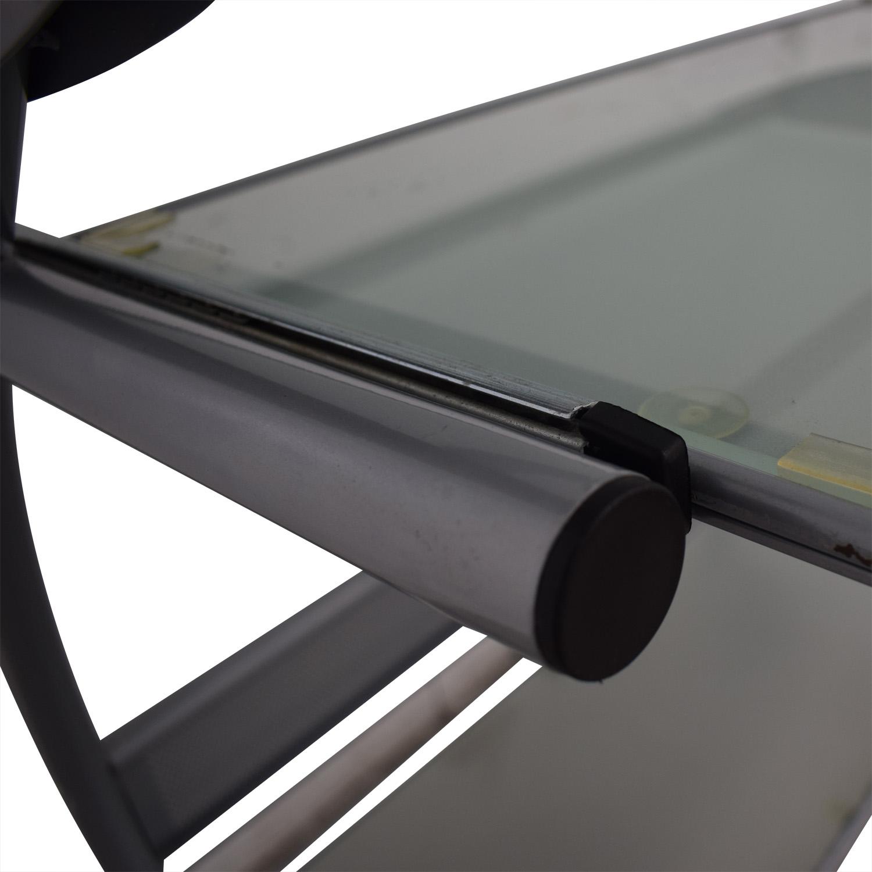 shop Glass and Metal Desk  Storage