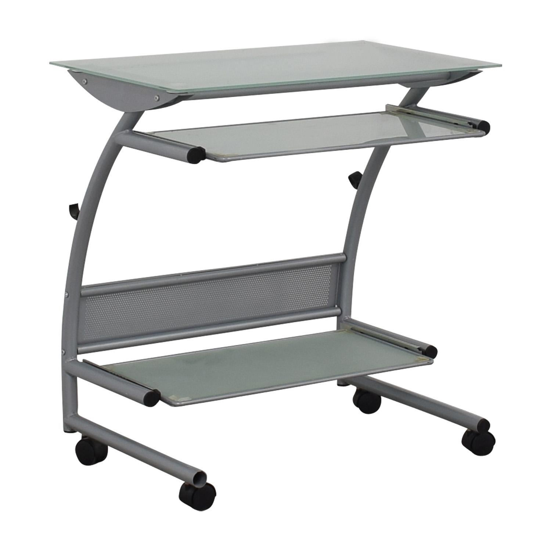Glass and Metal Desk / Media Units