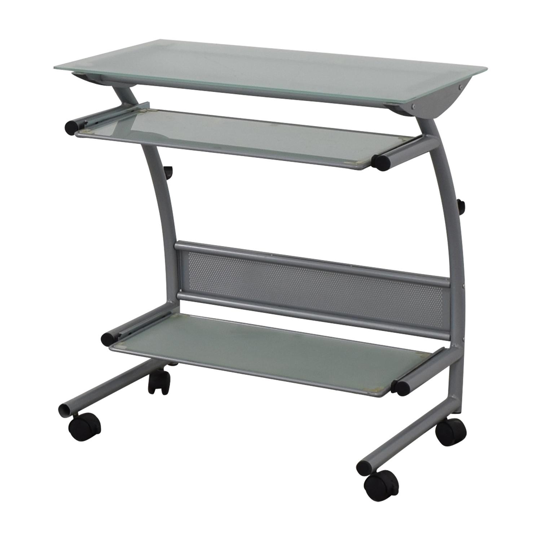 shop Glass and Metal Desk  Media Units