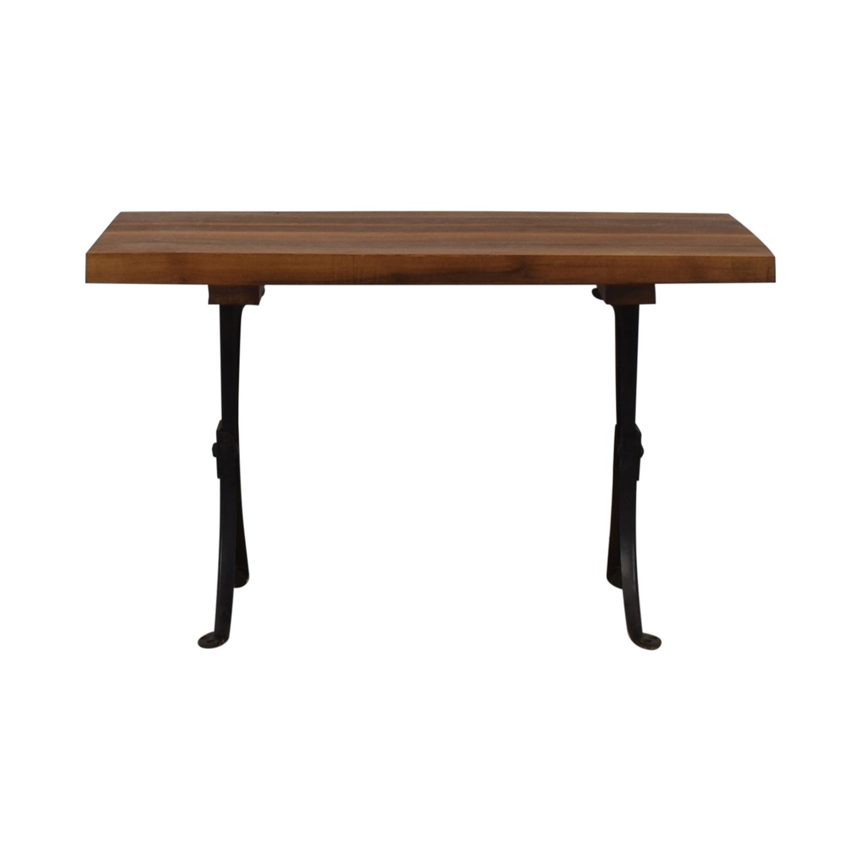 Custom Wood and Metal Coffee Table for sale