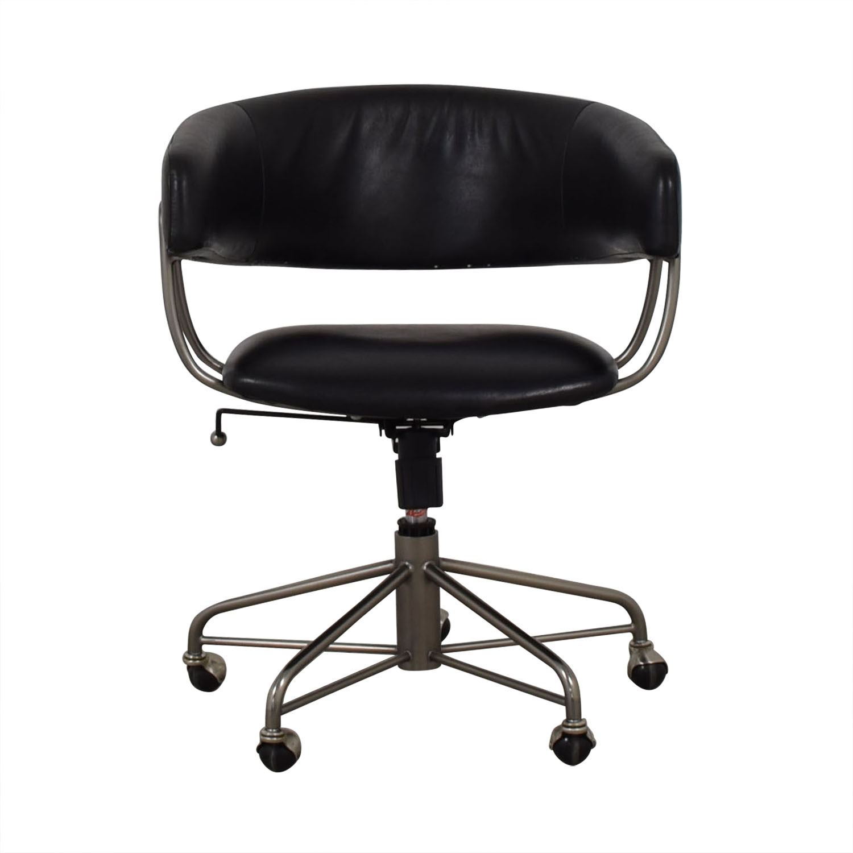 stunning west elm office chair | 81% OFF - West Elm West Elm Halifax Black Office Chair on ...