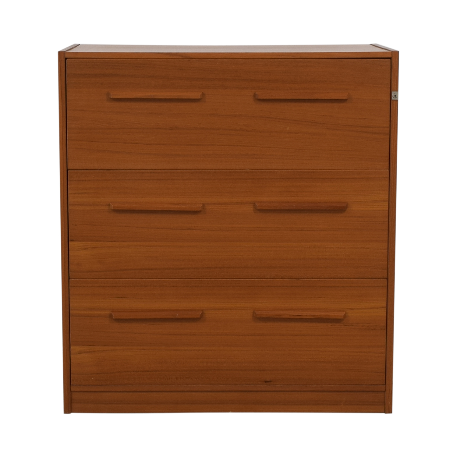 Danish Three-Drawer File Cabinet Storage
