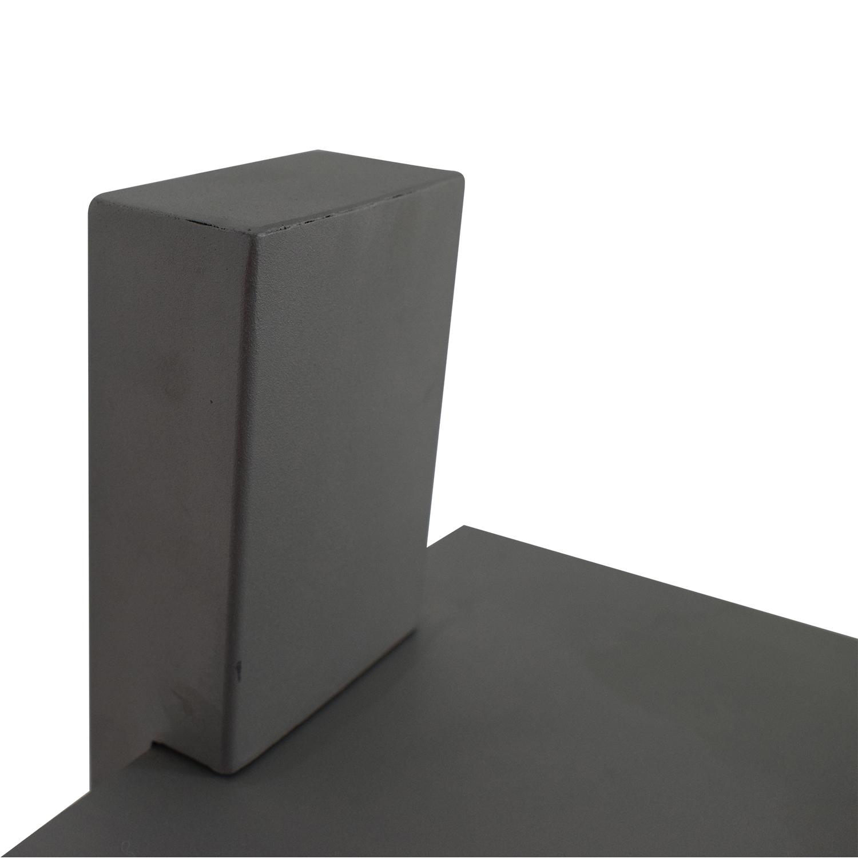 shop Vertical Grey Metal Bookcase  Storage
