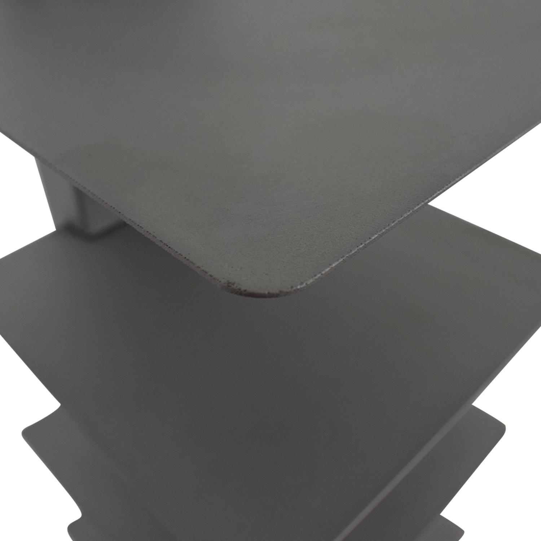 Vertical Grey Metal Bookcase nyc