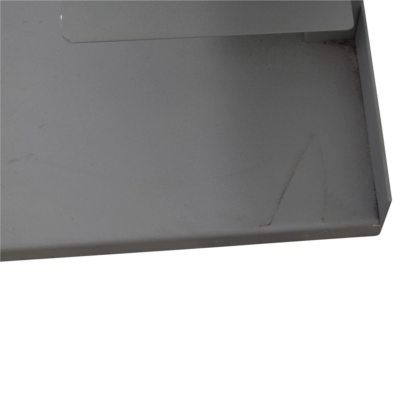 shop Vertical Grey Metal Bookcase  Bookcases & Shelving