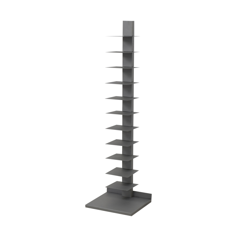 Vertical Grey Metal Bookcase dimensions