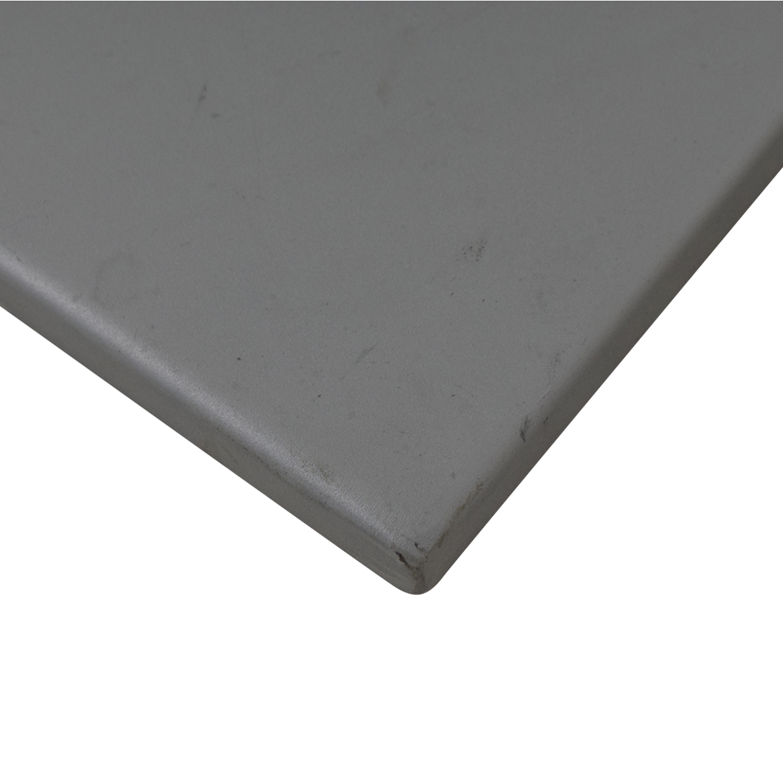 Vertical Grey Metal Bookcase discount
