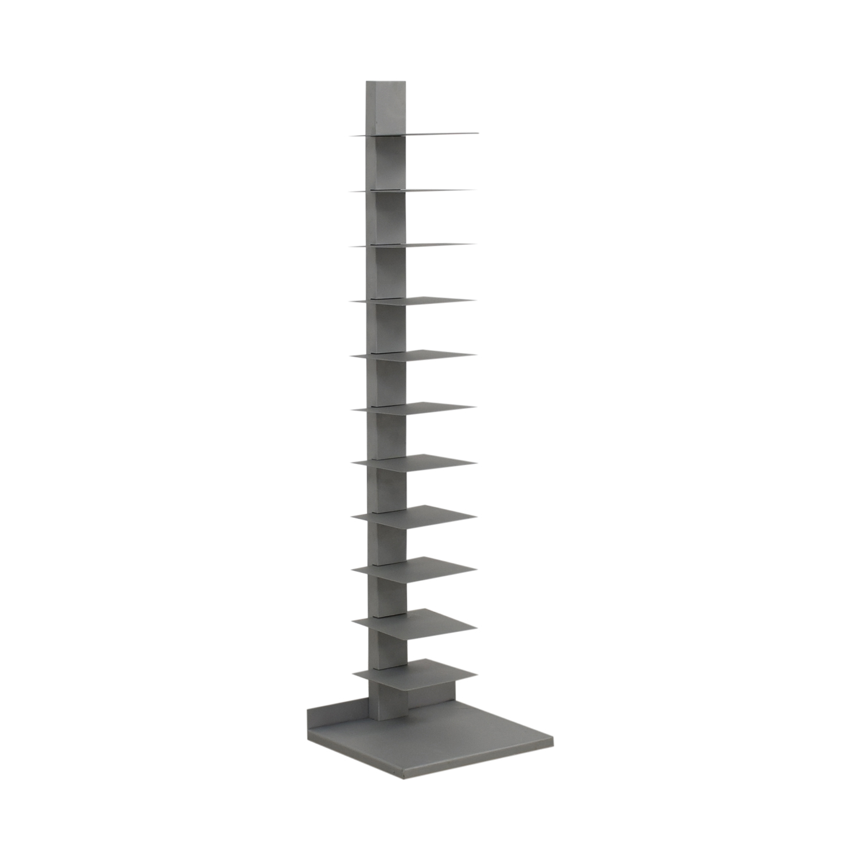 buy  Vertical Grey Metal Bookcase online