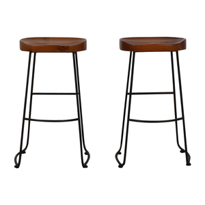 Urban Outfitters Urban Outfitters Sealed Natural Wood Bar Stools nyc