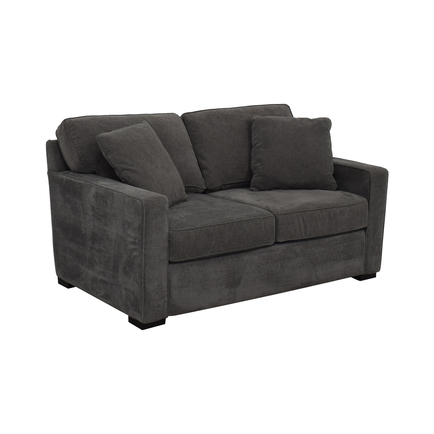 Macy's Macy's Grey Two-Cushion Loveseat discount