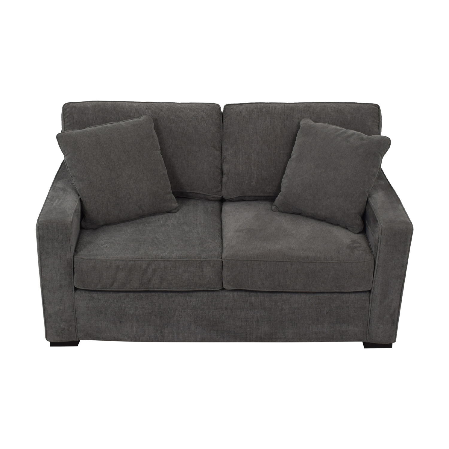 Macy's Grey Two-Cushion Loveseat / Loveseats