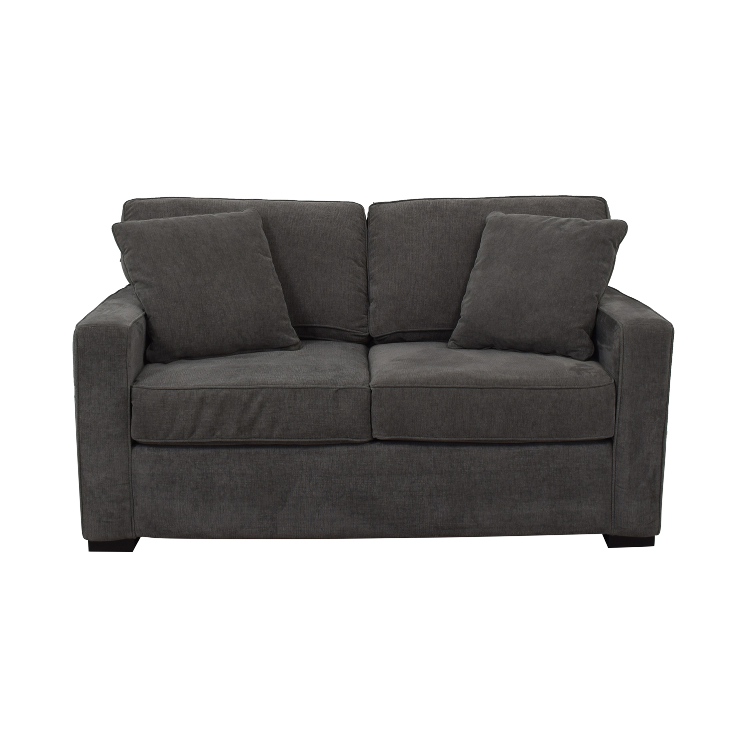 buy Macy's Grey Two-Cushion Loveseat Macy's Loveseats