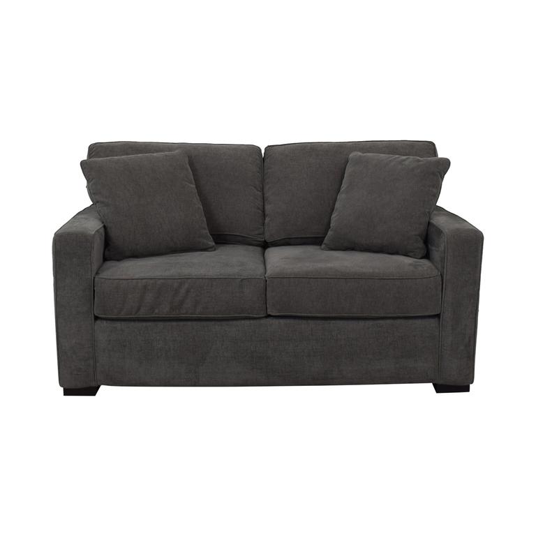 Macy's Grey Two-Cushion Loveseat sale