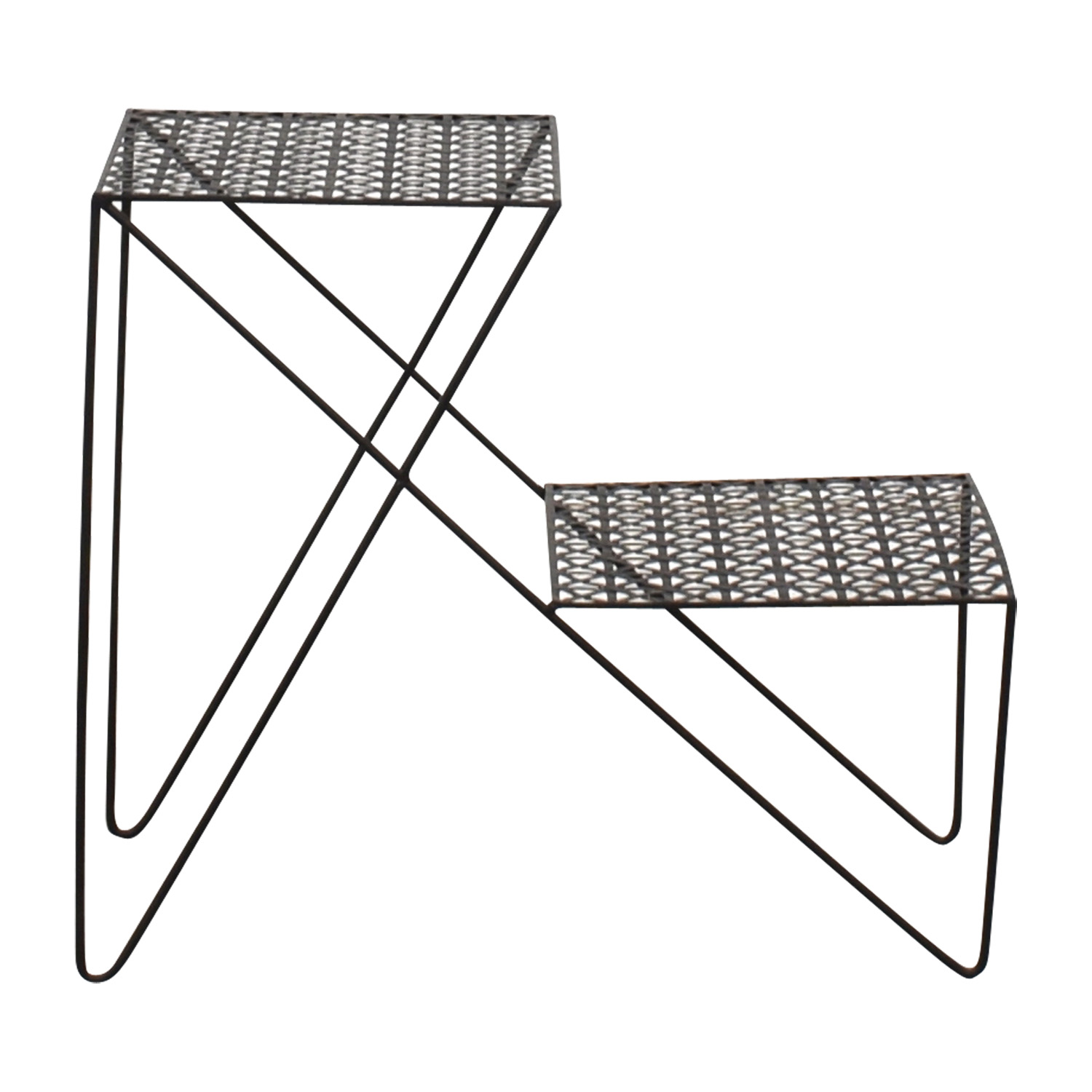 Urban Outfitters Urban Outfitters Black Metal End Table for sale