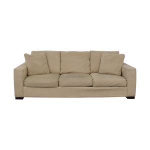 Room & Board Room & Board Metro Creme Three-Cushion Sofa for sale