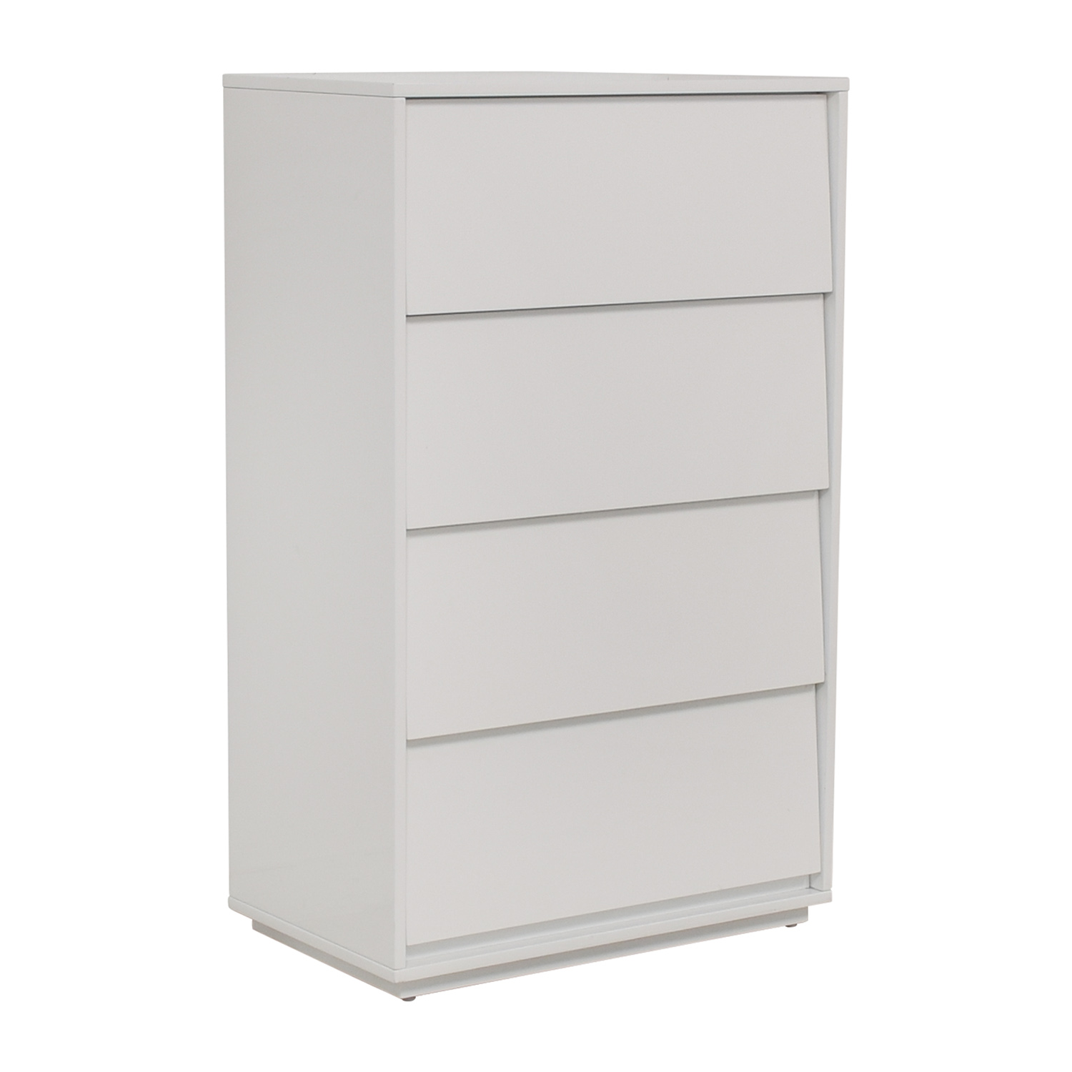 CB2 CB2 Gallery White Four Drawer Tall Chest Dressers