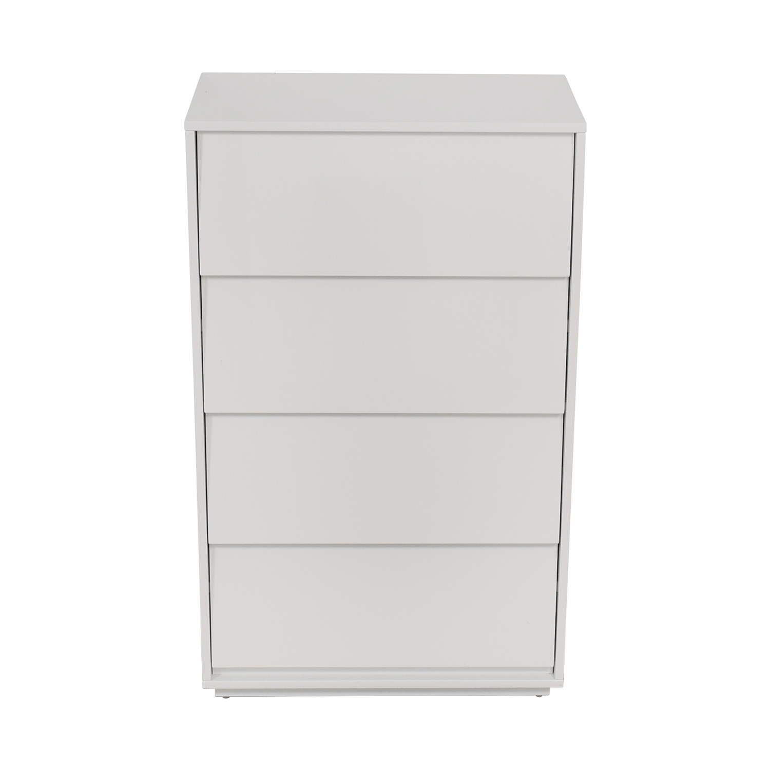CB2 CB2 Gallery White Four Drawer Tall Chest for sale