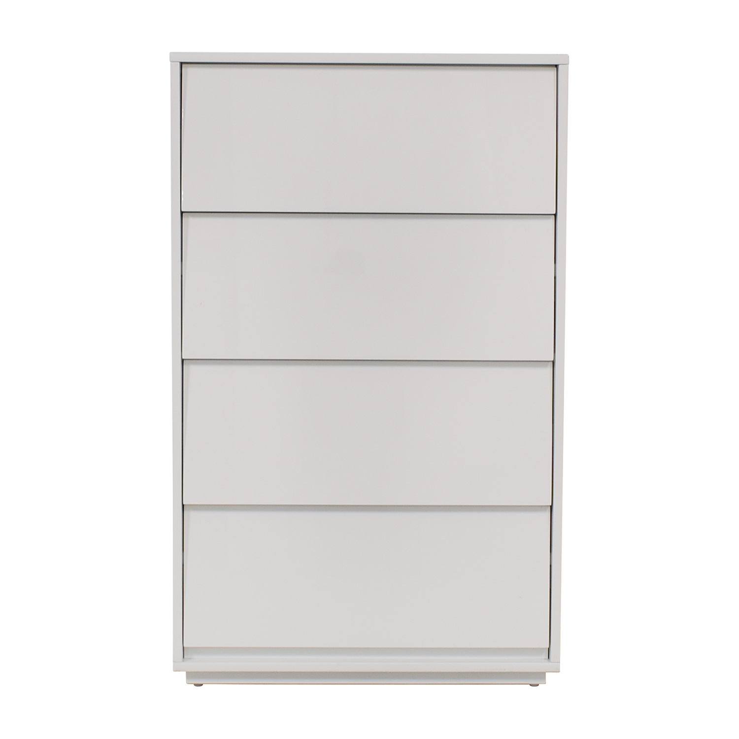 CB2 CB2 Gallery White Four Drawer Tall Chest used