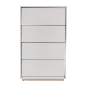 CB2 Gallery White Four Drawer Tall Chest sale