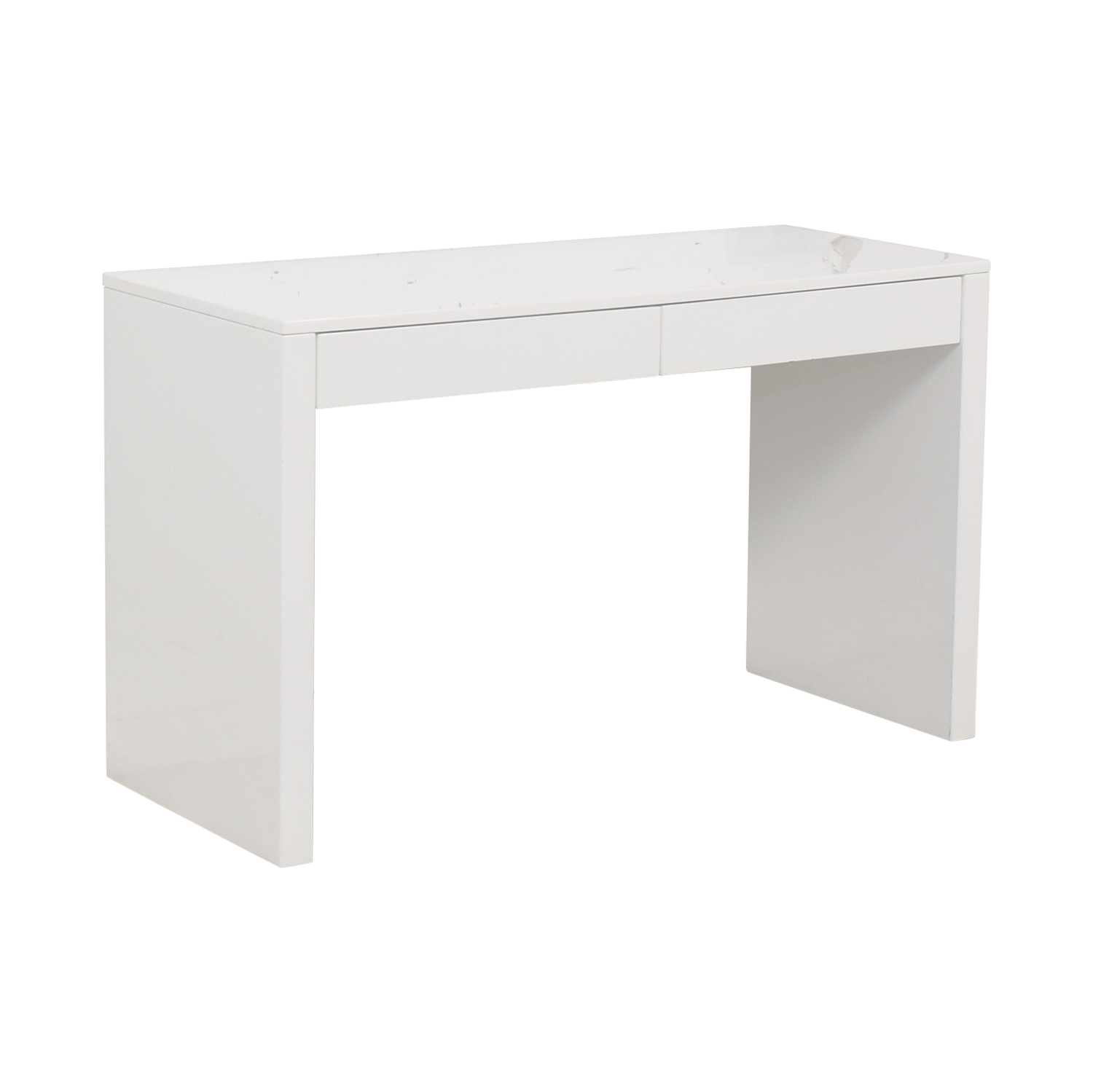 shop CB2 CB2 Runway White Lacquer Two-Drawer Desk online