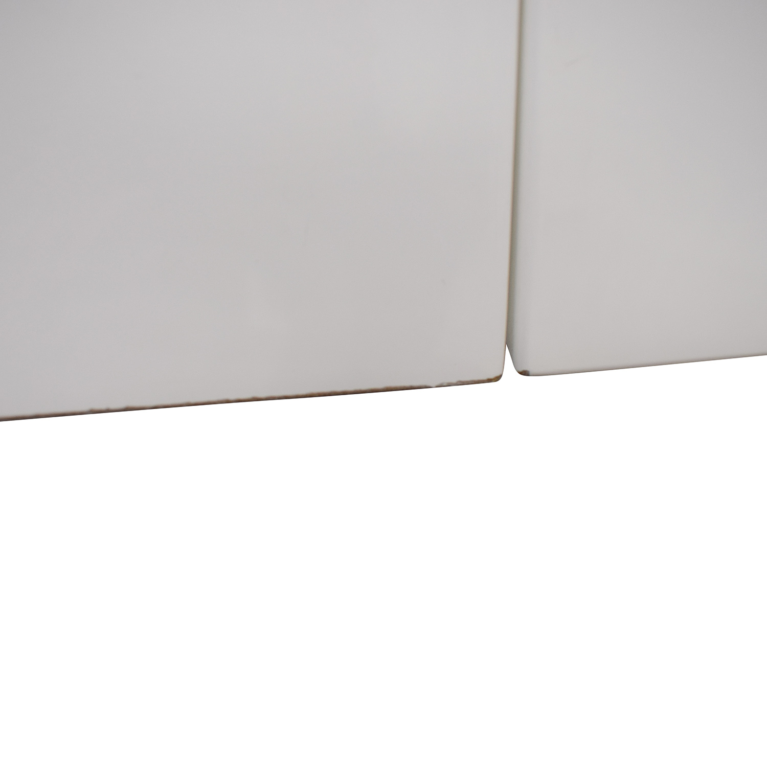 CB2 CB2 Runway White Lacquer Two-Drawer Desk used