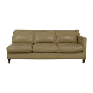buy Elite Leather Company Elite Leather Company Beige Single Arm Three-Cushion Sofa online
