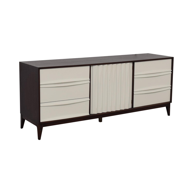 shop Refurbished Vintage White and Wood Nine-Drawer Dresser