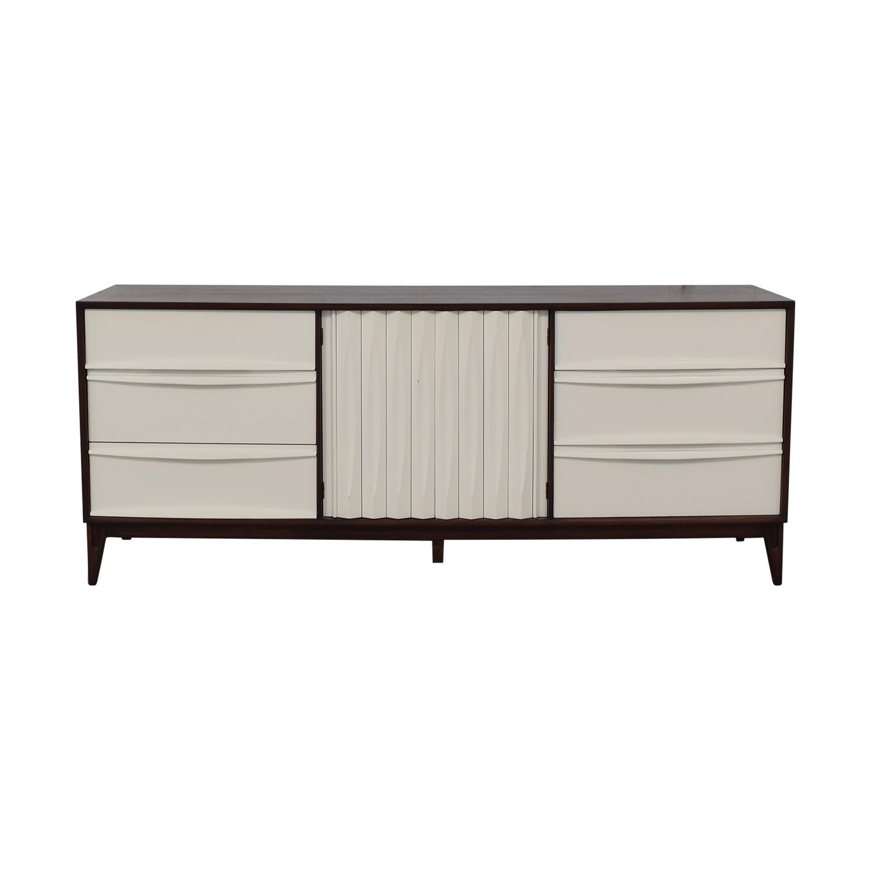 shop Refurbished Vintage White and Wood Nine-Drawer Dresser  Dressers