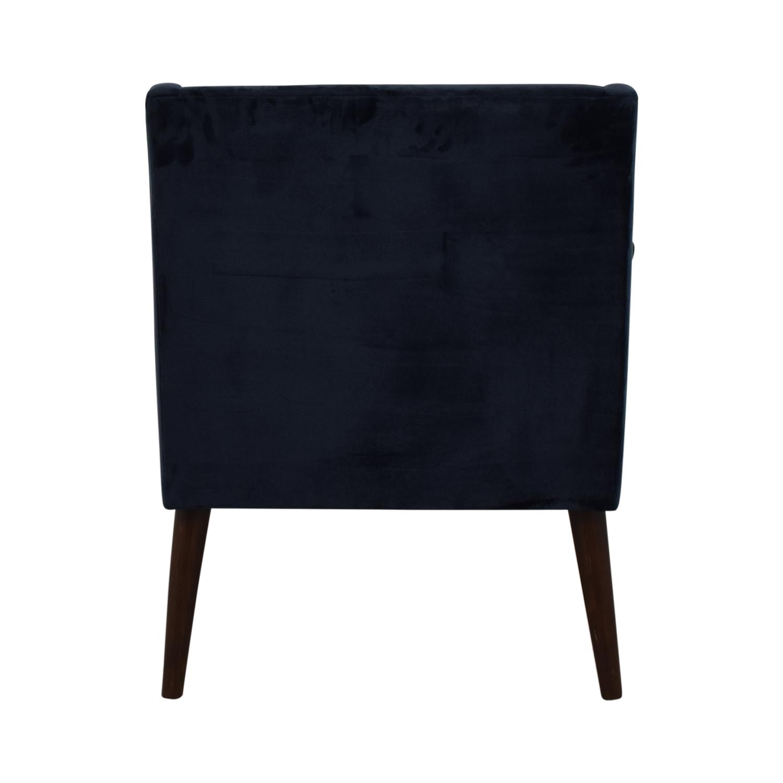 One Kings Lane One Kings Lane Navy Velvet Chair price