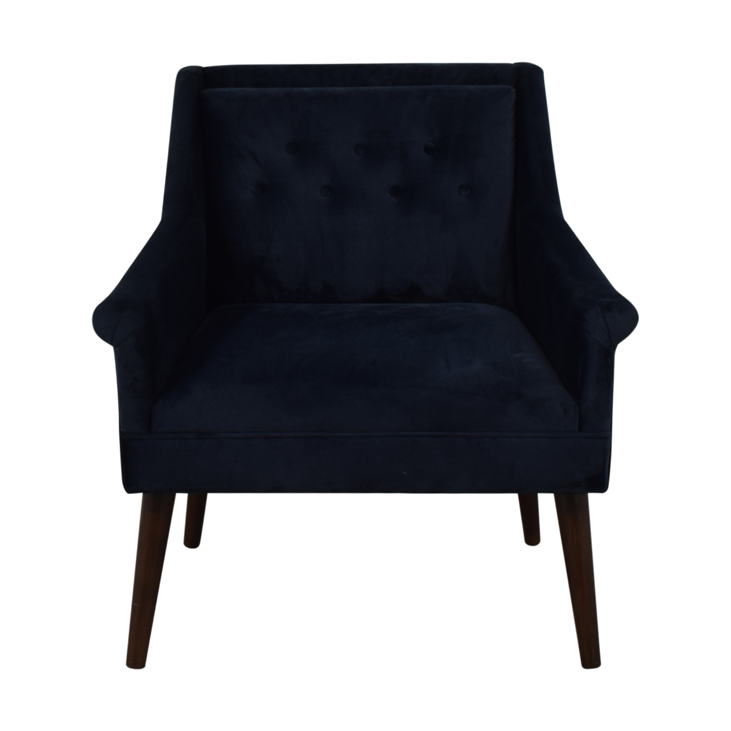 One Kings Lane One Kings Lane Navy Velvet Chair nyc