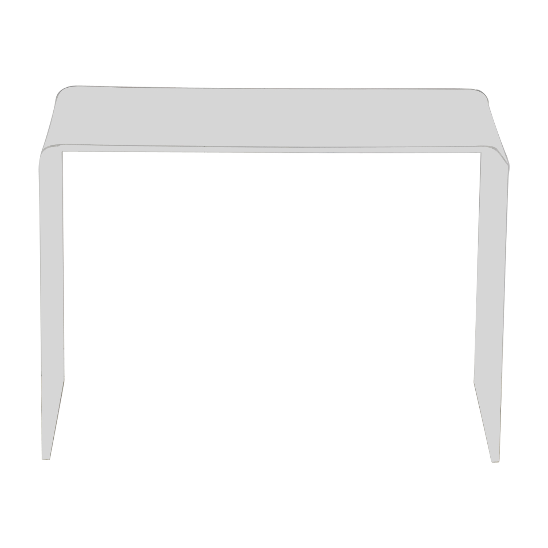 CB2 CB2 Peekaboo Acrylic Console Table for sale