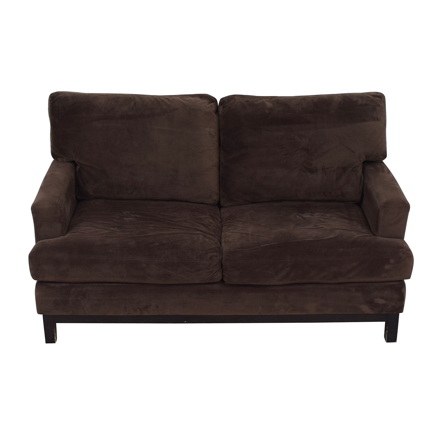 Mitchell Gold + Bob Williams Mitchell Gold + Bob Williams Brown Velvet Loveseat nyc