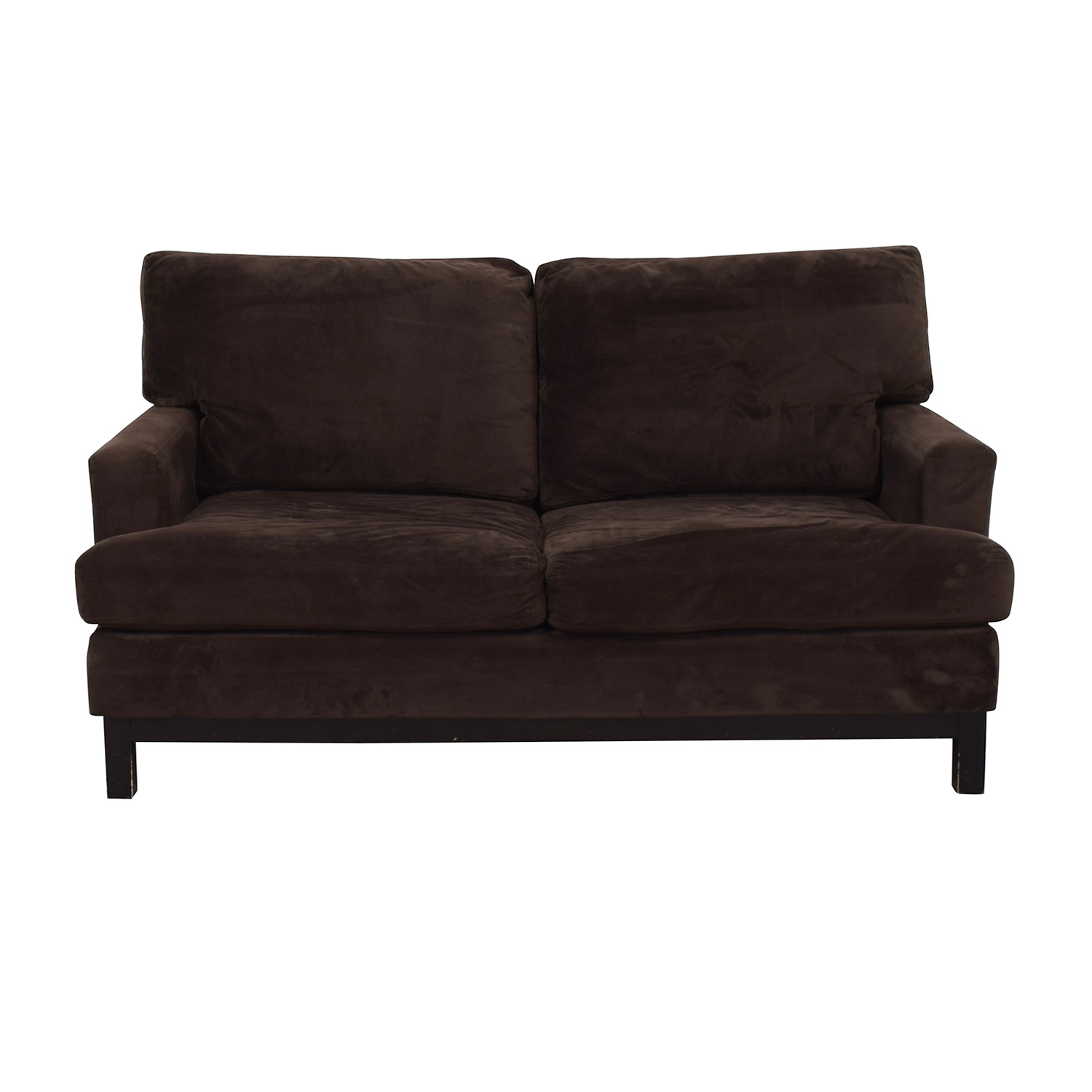Mitchell Gold + Bob Williams Brown Velvet Loveseat sale