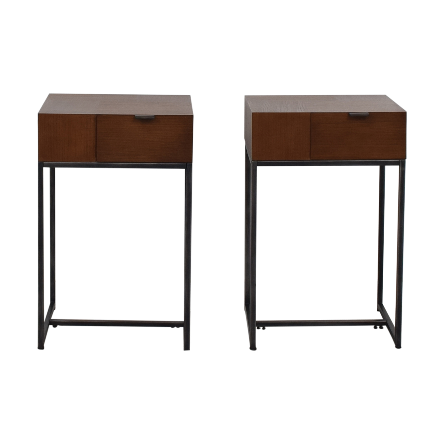 Modern Wood and Metal End Tables for sale