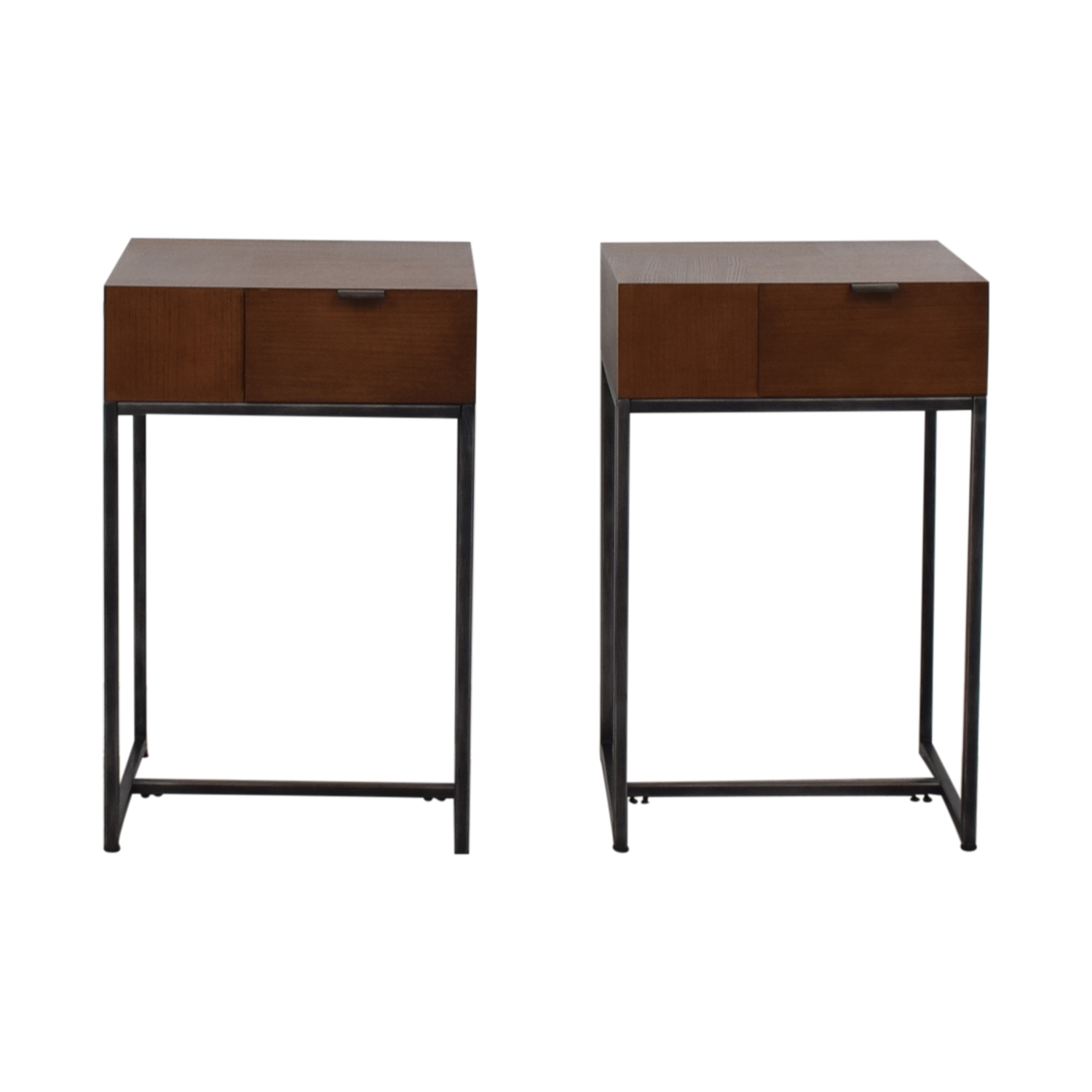 Modern Wood and Metal End Tables on sale