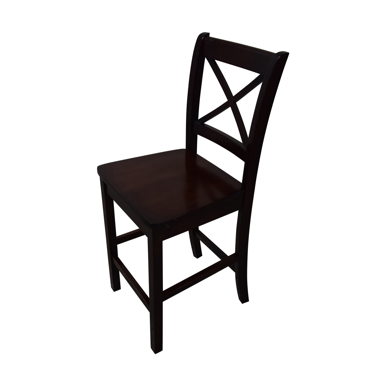 Counter Height Wood Dining Set brown