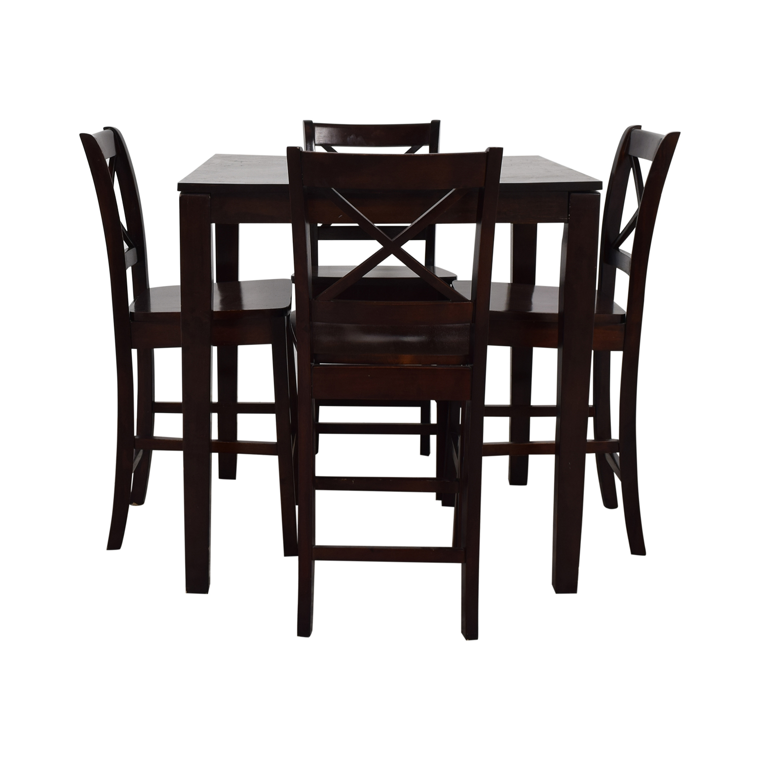 Counter Height Wood Dining Set