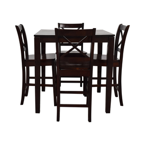 Counter Height Wood Dining Set used