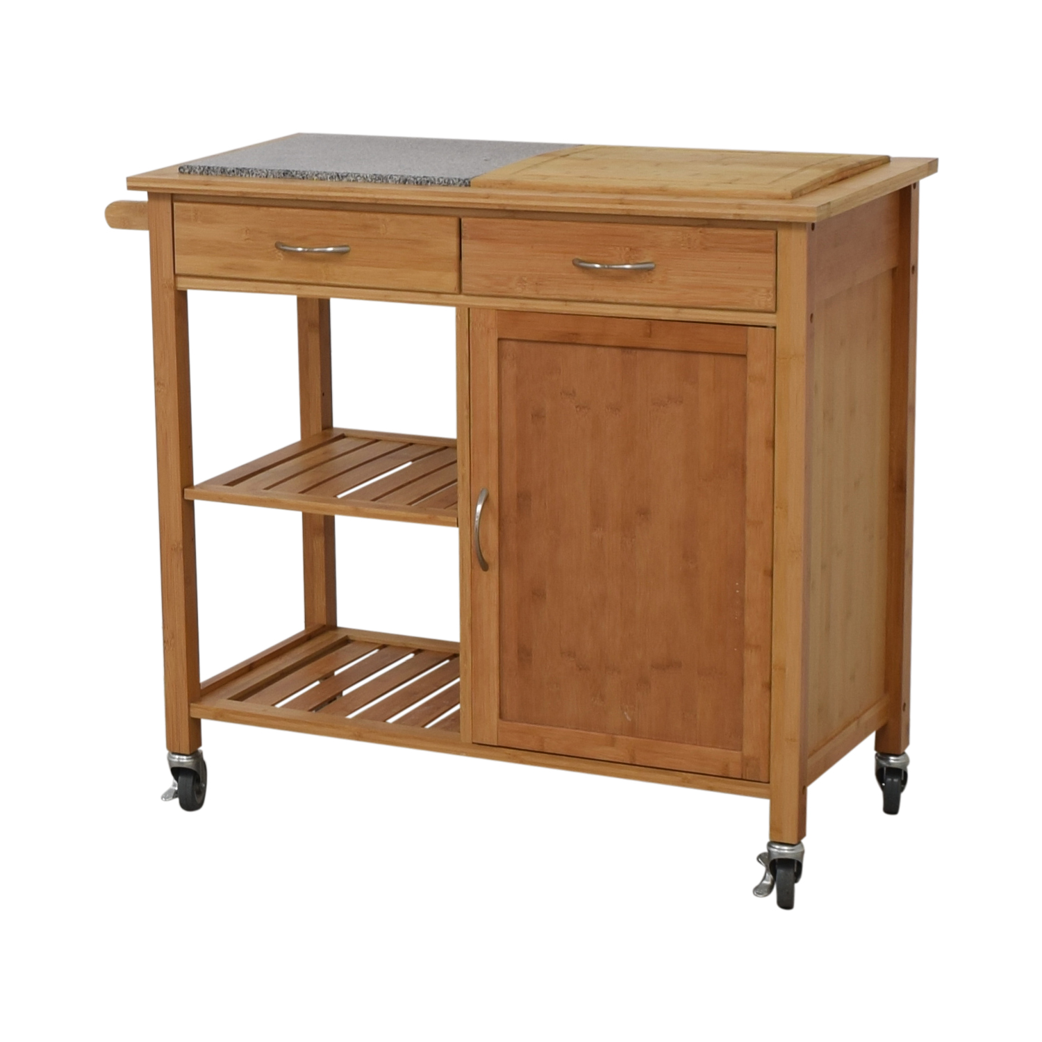 Linon Home Linon Home Bamboo Rolling Kitchen Island wood