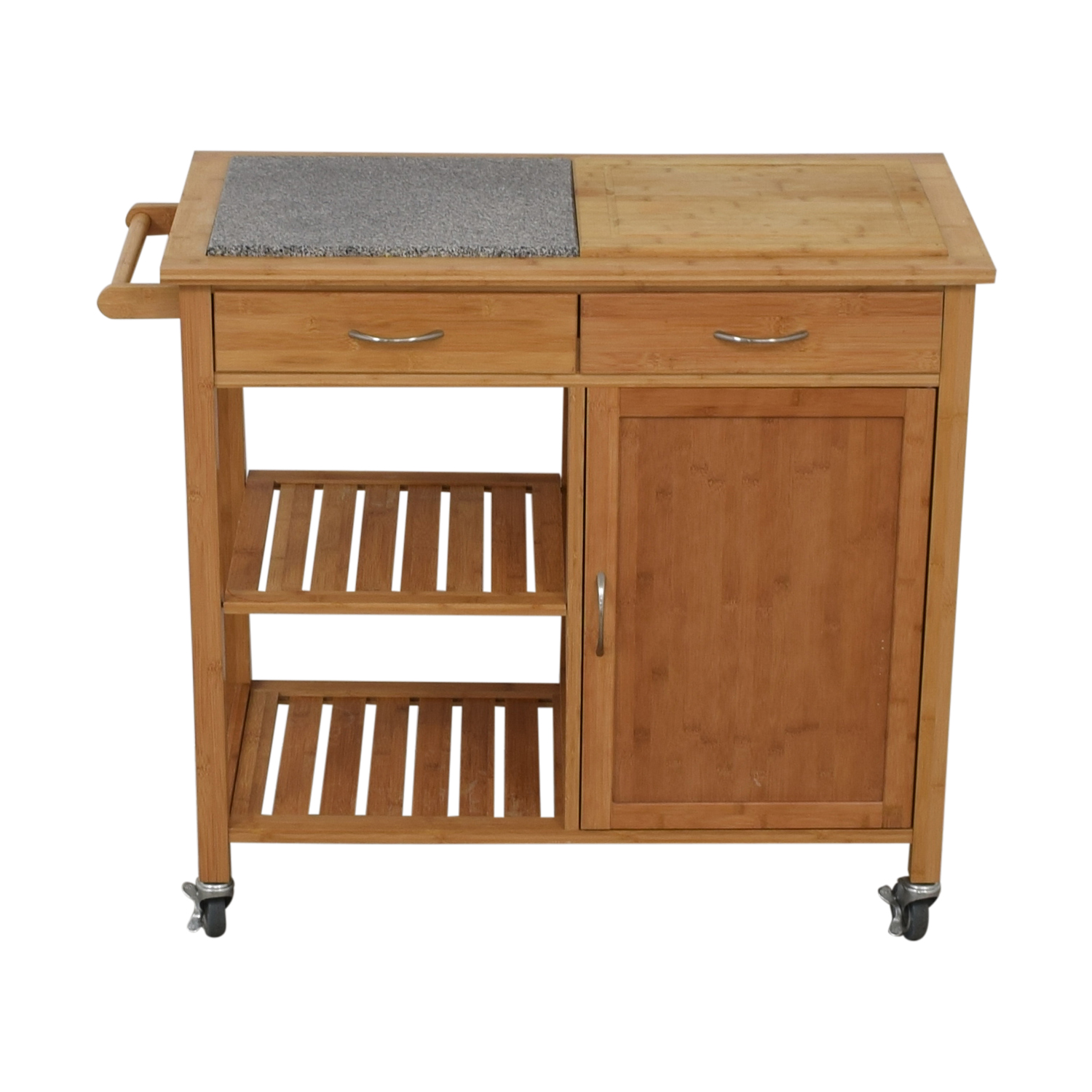 buy Linon Home Bamboo Rolling Kitchen Island Linon Home Tables