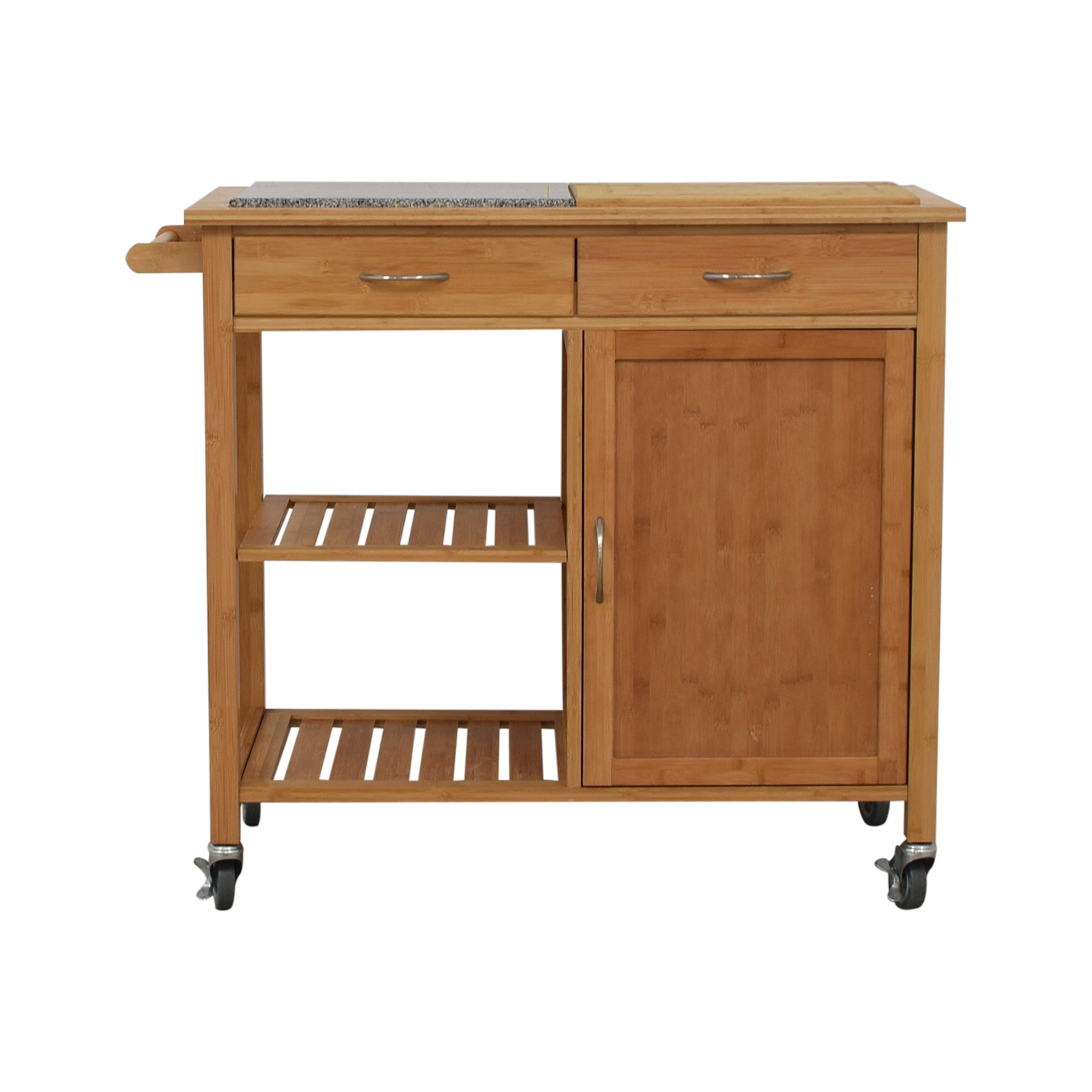 shop Linon Home Bamboo Rolling Kitchen Island Linon Home Utility Tables