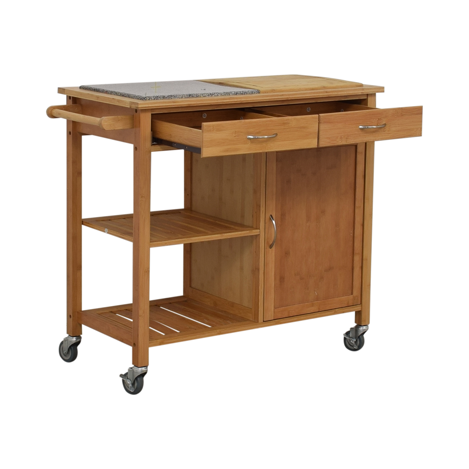shop Linon Home Linon Home Bamboo Rolling Kitchen Island online