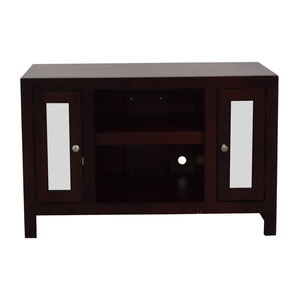 buy Wood and Glass Entertainment Center  Storage