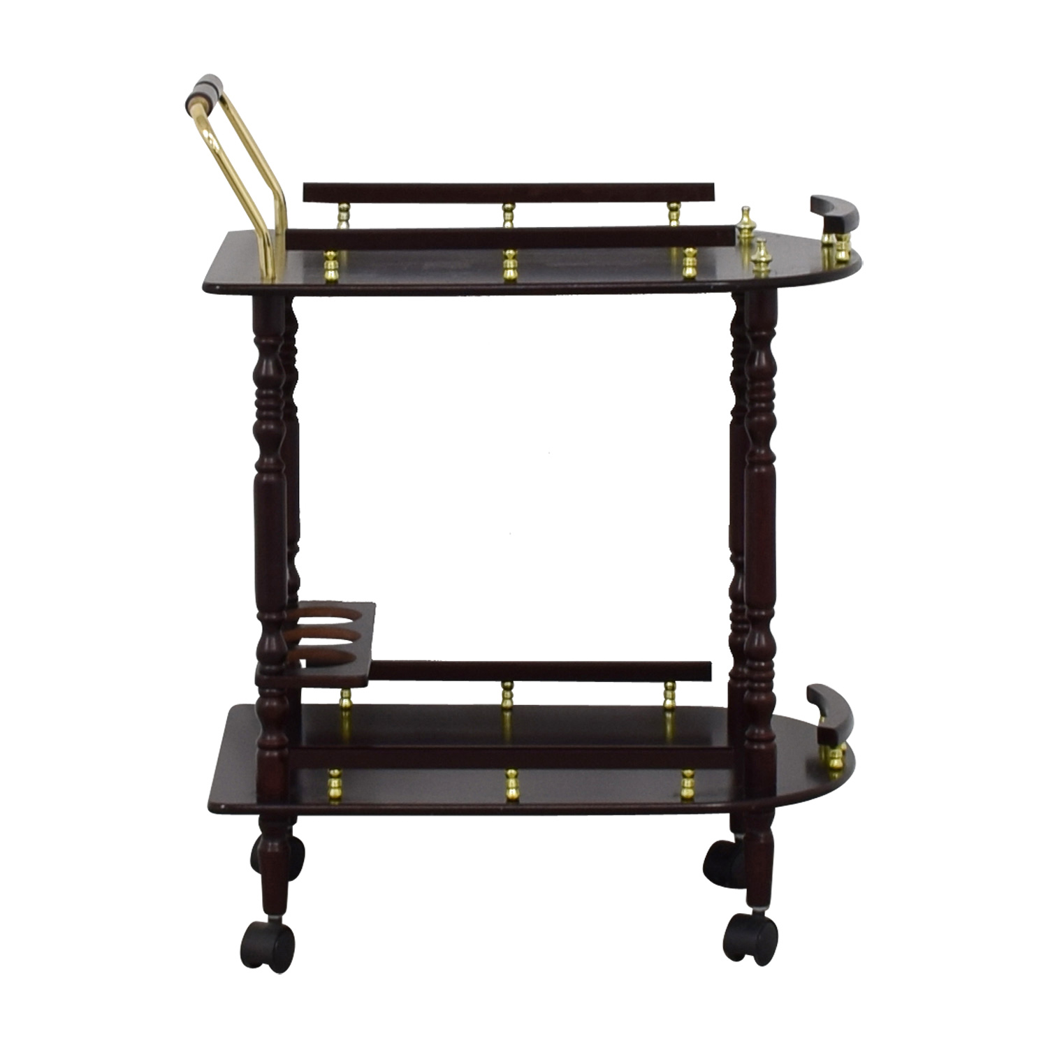 buy  Wood Bar Cart on Castors online