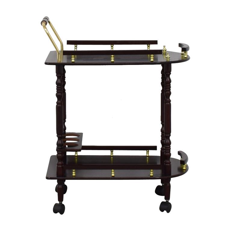 Wood Bar Cart on Castors coupon