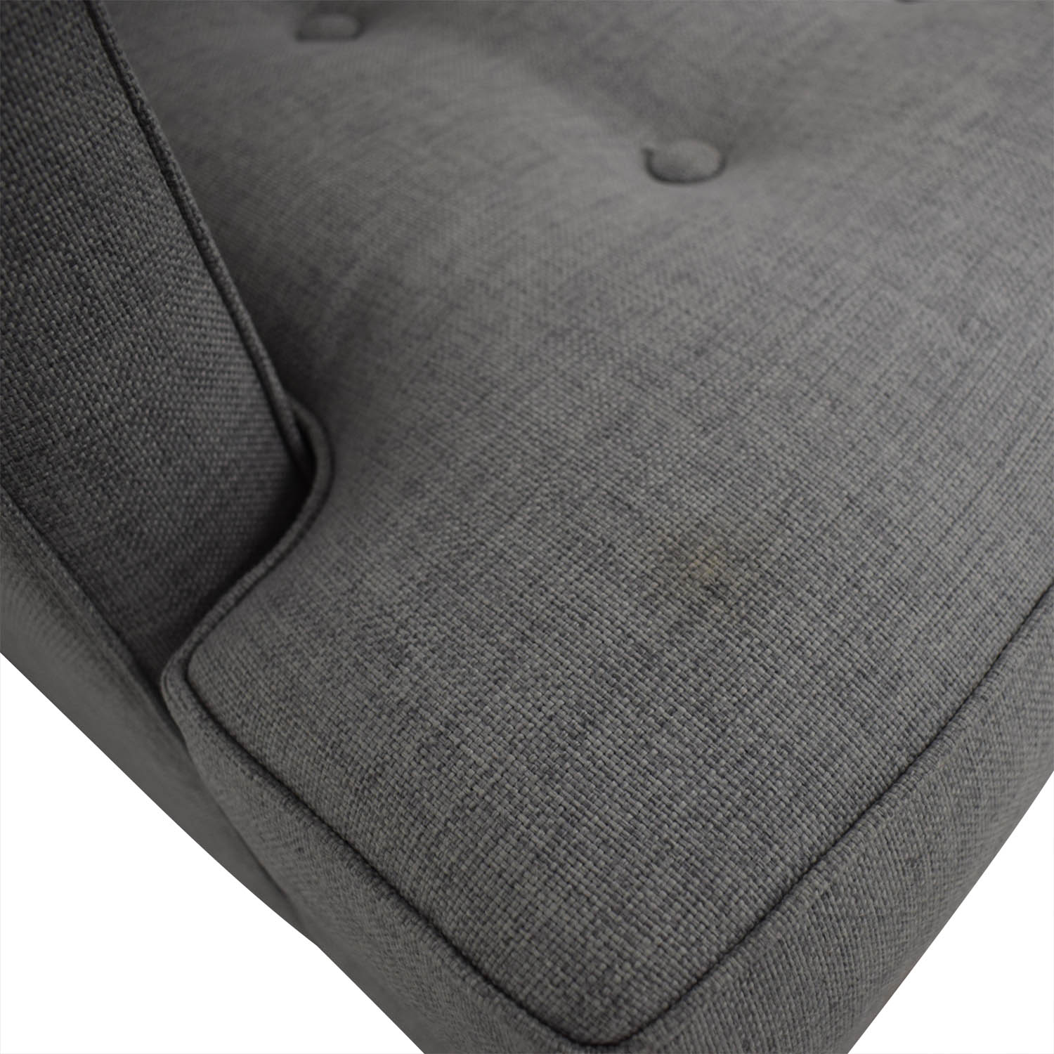 West Elm West Elm Peggy Feather Gray Heathered Crosshatch Tufted Sofa nyc