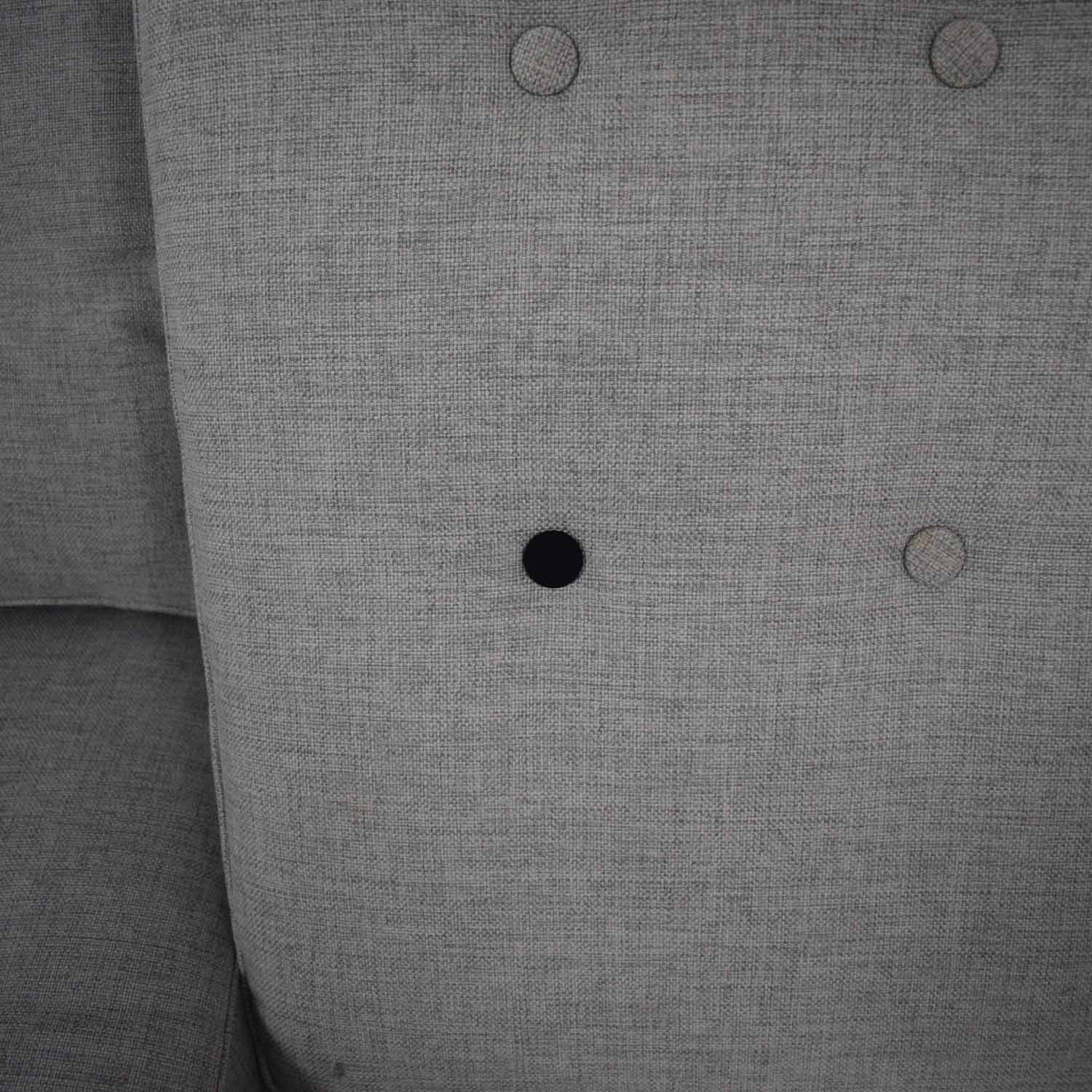 buy West Elm West Elm Peggy Feather Gray Heathered Crosshatch Tufted Sofa online