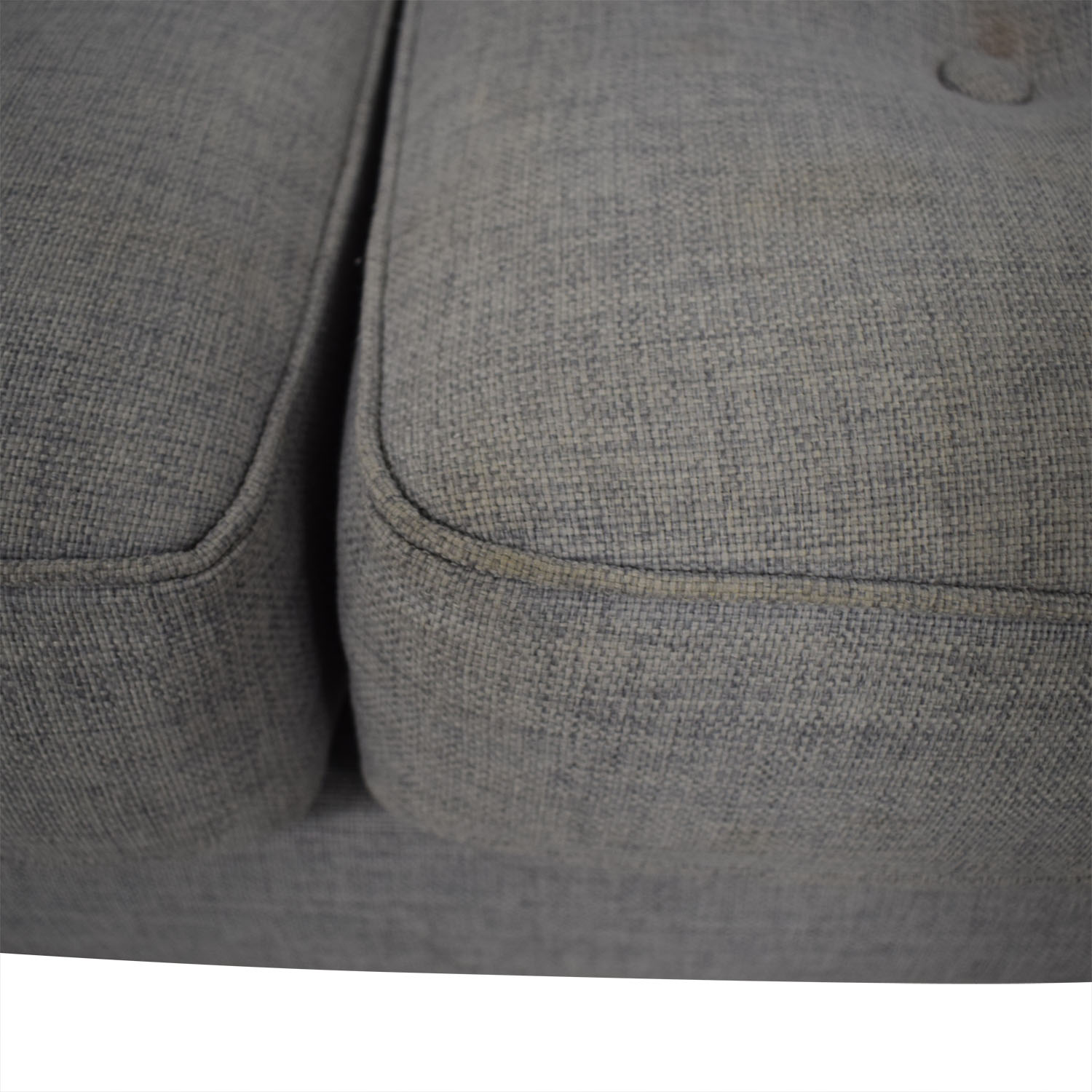 West Elm West Elm Peggy Feather Gray Heathered Crosshatch Tufted Sofa second hand