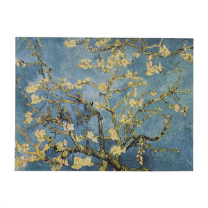 Cherry Blossom Blue Canvas Oil Painting nj