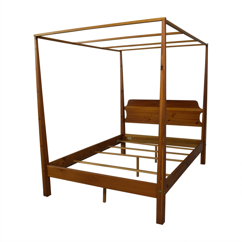 shop Ethan Allen New Impressions Canopy Bed Frame Ethan Allen